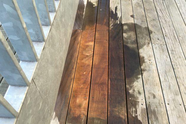Oliecoating op houten vlonders